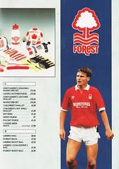 Nottingham Forest - Souvenir Shop Catalogue - 1991/92 - Page 9 (The Sky Strikers) Tags: nottingham forest official sports souvenir shop catalogue the city ground 1991 1992