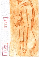 Not For Sale (booboo_babies) Tags: nude print art mailart spain
