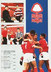 Nottingham Forest - Souvenir Shop Catalogue - 1991/92 - Page 5 (The Sky Strikers) Tags: nottingham forest official sports souvenir shop catalogue the city ground 1991 1992