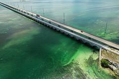 The Overseas Highway, the Florida Keys (Symbiosis) Tags: overseashighway henryflagler f floridakeys monroecounty droneflying droneview droneflyingflorida bridge 7milebridge atlanticocean aerialview gulfofmexico dji mavicpro2