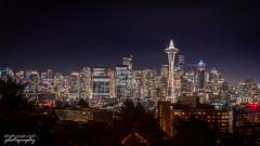 The Seattle Skyline (Afzal H.) Tags: seattle usa washington unitedstatesofamerica skyline night nightscape cityscape lights neon evening landmark