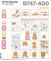 Lufthansa B-747-400 (2010-01) (Dmitry's Safety Cards for Trade) Tags: boeing b747 germany b747400 lufthansa safetycards