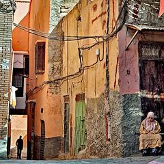 A Street Scene in Marrakesh, Marocco. (paaddor) Tags: marocco lifeisstreet streetscenes streetshot streetphotography street streetphotos streetsandhouses flickr flickrphotography flickrstreet colors doors doorsandwindows