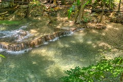 Pool of Huay Maekhamin waterfall in Kanchanaburi province, Thailand (UweBKK (α 77 on )) Tags: huay maekhamin waterfall water flow stream reflection tree forest jungle step tier kanchanaburi province thailand southeast asia sony alpha 77 slt dslr