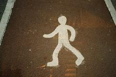 Walking guy (Jim Davies) Tags: doubles doubleexposure film alt analogue experimental wichita kansas usa uk veebotique kodak gold 200asa pentax espio canon at1 compact slr collaboration doubledealies serendepity accidental 35mm analog filmfilmforever accident mashup mystery oxfordshire