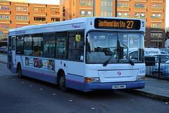42487 (SN03WME) 10-01-2020 rte 27 CBS.1 (routemaster2217) Tags: southendonsea transport bus lowfloorbus saloon singledecker firstessex firsteastengland dennisdart slf plaxtonpointer 42487 sn03wme