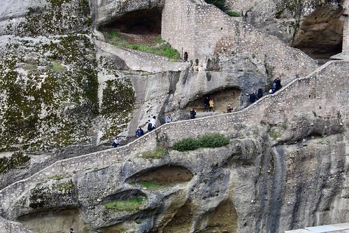 Steps to Great Monastery, Meteora, Greece