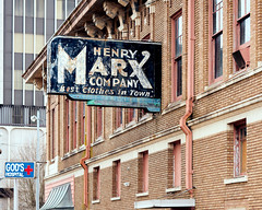Henry Marx Company (Dysfunctional Photographer) Tags: antique classic sign building downtown pinebluff arkansas 2020 usa nikon z7 nef raw captureone urban south