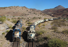 59+55+52+49+50, Clifton AZ, 4 Nov 2019 (Mr Joseph Bloggs) Tags: morenci freeport mcmoran clifton arizona usa united states america 59 55 52 49 50 railroad freight cargo merci railway bahn zug vlak emd electro motive division gp382 gp38