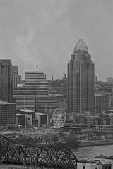 The City of Cincinnati, Ferris Wheel Circa 2020 (Just By Chance Photography) Tags: cincinnati cincinatti cityscape city landscape ohio vintage panorama devou park devoupark dreespark dreepark overlook overwatch canon t6 18135mm stm