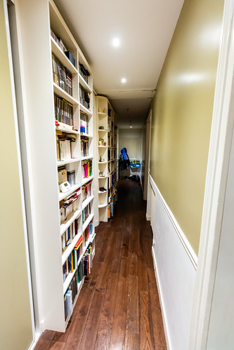 Hallway with Book Shelves