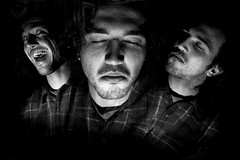 three heads (Brooklyn Bison) Tags: multi flash stroboscopic long exposure abstract