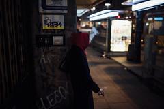 Hood (ewitsoe) Tags: nikon street warszawa winter erikwitsoe poland urban warsaw woman smoking night evening hood red coat tram station citylife everyday moment smoke habit