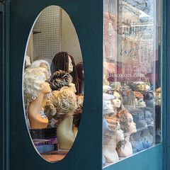 Display / Wigs / storefront (swampzoid) Tags: wigs heads female women storefront display window downtown savannah georgia broughtonstreet broughton street shop shopping store oval wig hair hairstyle hairstyles ladies fashion