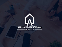 Alpha Professional Rentals (studiokingportfolio) Tags: minimalist logof lat professional business logo brand identity design modern flat minimal luxury creative management consulting financial wealth advisor iconic vector crafted custom hand drawn enterprise