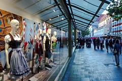 Styles, Traditional and Today's (AntyDiluvian) Tags: germany deutschland munich muenchen german 2015 store storewindows departmentstore dirndl fashion style kaufingerstrasse