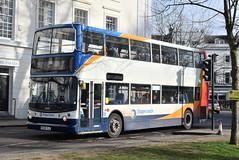 SW 18399 @ Dormer Place, Leamington Spa (ianjpoole) Tags: stagecoach warwickshire dennis trident alexander alx400 kx55tlz 18399 working route x17 coventry transport museum warwick bus station