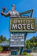 Experience the Smokies (sniggie) Tags: americanindian cherokee northcarolina smokymountains warriormotel motel neonsign sign tomahawk vacancy