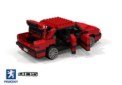 Peugeot 405 Berline (lego911) Tags: peugeot 405 saloon sedan berline 1987 1980s french france fwd pas auto car moc model miniland lego lego911 ldd render cad povray afol pininfarina