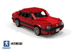 Peugeot 405 Berline (lego911) Tags: peugeot 405 saloon sedan berline 1987 1980s french france fwd pas auto car moc model miniland lego lego911 ldd render cad povray afol pininfarina foitsop