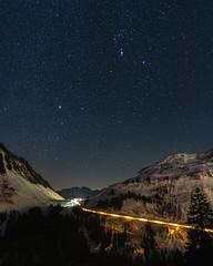 Looking at the stars (ramvogel) Tags: sony a6300 night nightphotografy light street stars damüls voralberg österreich astro astrophotography wideangel sigma sigma16mmf14