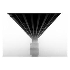 . (halagabor) Tags: bnw blackandwhite monochrome bridge budapest hungary ilford ilfordhp5 ilfordfilm film filmisnotdead filmcamera filmisalive filmphotography ishootfilm istillshootfilm 35mm pushed 1600 nikon nikonfe2 fog foggy mist misty