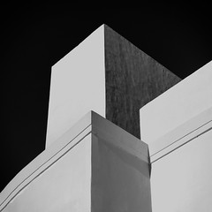 Passing Through_路過_2019.1226_5831@ Cancun, Mexico (KT Shiue) Tags: passing passingthrough travel tower building architecture color line sky mexico cancun 路過 abstract mass shadow lightnshadow imagery blocks blackandwhitephotography structure