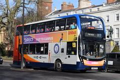 SW 11223 @ Dormer Place, Leamington Spa (ianjpoole) Tags: stagecoach warwickshire alexander dennis enviro 400mmc sn69zdd 11223 working route x17 coventry transport museum warwick bus station