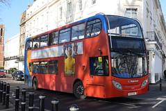 SW 10034 @ Dormer Place, Leamington Spa (ianjpoole) Tags: stagecoach warwickshire alexander dennis enviro 400 kx12gxc 10034 working route x18 evesham bus station coventry transport museum
