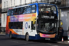 SW 11219 @ Dormer Place, Leamington Spa (ianjpoole) Tags: stagecoach warwickshire alexander dennis enviro 400mmc sn69zcy 11219 working route x18 evesham bus station coventry transport museum