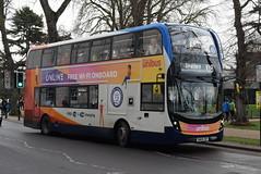 SW 11225 @ Dormer Place, Leamington Spa (ianjpoole) Tags: stagecoach warwickshire alexander dennis enviro 400mmc sn69zdf 11225 working route x18 coventry transport museum mcdonalds stratforduponavon then evesham bus station