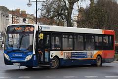 SW 36943 @ Dormer Place, Leamington Spa (ianjpoole) Tags: stagecoach warwickshire alexander dennis enviro 200 sn63kfz 36943 working route x17 coventry transport museum warwick bus station
