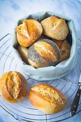 Sonntagsbrötchen - schon am Vorabend vorbereiten (gernekochen) Tags: backen buffet frühstück ofengericht veggie