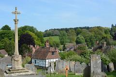 Westerham and War Memorial (raymond6030) Tags: nikond7100 kent westerham warmemorial churchyard grave gravestone cross hill tree