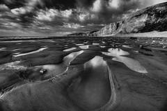 Systems of Edges (pauldunn52) Tags: beach traeth mawr glamorgan heritage coast wales mono black white seascape