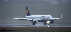 Lufthansa J78A0010 (M0JRA) Tags: lufthansa birmingham planes wind rain storms flying jets aircraft landings biz