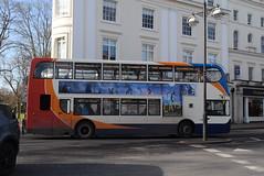 SW 15678 @ Dormer Place, Leamington Spa (ianjpoole) Tags: stagecoach warwickshire scania n230ud alexander dennis enviro 400 kx10ktj 15678 working route x18 evesham bus station coventry transport museum
