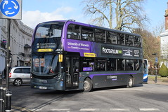 NXC 6964 @ Dormer Place, Leamington Spa (ianjpoole) Tags: national express coventry alexander dennis enviro 400mmc yx68usp 6964 working platinum route 11 pool meadow bus station dormer place leamington spa