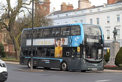 NXC 6954 @ Dormer Place, Leamington Spa (ianjpoole) Tags: national express coventry alexander dennis enviro 400mmc yx68usd 6954 working platinum route 11 pool meadow bus station dormer place leamington spa