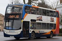 SW 15674 @ Dormer Place, Leamington Spa (ianjpoole) Tags: stagecoach warwickshire scania n230ud alexander dennis enviro 400 kx10ktd 15674 working route x18 coventry transport museum mcdonalds stratforduponavon then evesham bus station