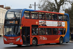 SW 10040 @ Dormer Place, Leamington Spa (ianjpoole) Tags: stagecoach warwickshire alexander dennis enviro 400 kx12gxj 10040 working route x17 coventry transport museum warwick bus station