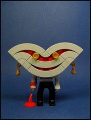 Hello, I'm very happy to meet you : )) (Karf Oohlu) Tags: lego moc figure happy smiley horror bigsmile smile bloodyarm blood