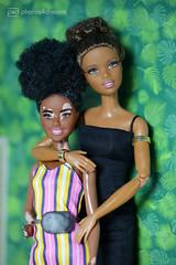 sisters (photos4dreams) Tags: barbie mattel doll toy diorama photos4dreams p4d photos4dreamz barbies girl play fashion fashionistas outfit kleider mode puppenstube tabletopphotography aa beauties beautiful girls women ladies damen weiblich female ebay keyla afroamerican darkskin africanamerican bonnie vitiligo