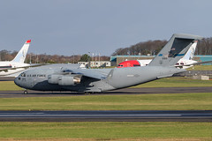 03-3113 C-17A Globemaster III USAF Prestwick 16.02.2020 (Robert Banks 1) Tags: 033113 boeing c17a c17 globemaster iii usaf united states air force prestwick egpk pik 172nd aw 183rd as wing ang national guard mississippi spirit purple heart