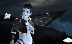 Brush it off and keep going (~*Valerian*~) Tags: secondlife avatar virtual digital cyberpunk futuristic maitreya laq hilted shi r2 cerberusxing ascendant gloom bom humanglitch