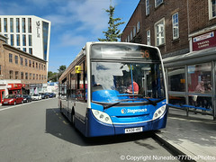 KX08HRE 39697 Stagecoach Midlands in Coventry (Nuneaton777 Bus Photos) Tags: stagecoach midlands man enviro 200 kx08hre 39697 coventry