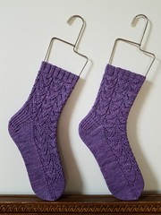 Cozy Autumn Socks (Giynlith) Tags: socks lace knitting