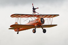 Boeing PT-17 Stearman (Nigel Musgrove-3 million views-thank you!) Tags: duxford air festival iwm cambridgeshire england 26 may 2019 aerosuperbatics wingwalkers rencomb airfield gloucestershire boeing pt17 stearman girl gymnastics fit performance biplane rendcomb