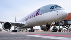 A359 | Qatar | A7-ALA (matousek1199) Tags: a350 lkpr airliner pragueairport prague qatar winglet close