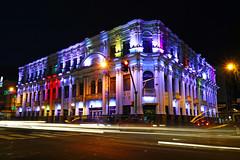 San Jose by night. Melico Salazar Theatre (Andrey Sulitskiy) Tags: sanjose costarica